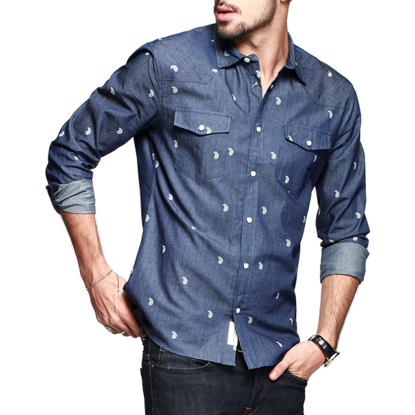 2015-Direct-Selling-Top-Fashion-Casual-Shirts-Full-Blusas-Men-Shirt-Brand-Kuegou-Jeans-Shirt-Slim