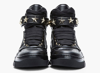 Givenchy-Star-Embellished-black-leather-High-Top-Sneakers-1